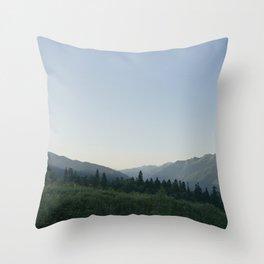 daybreak at the mountains Throw Pillow