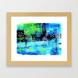 Blooms + Crosses Framed Art Print