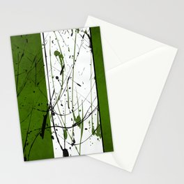 Green zen Stationery Cards