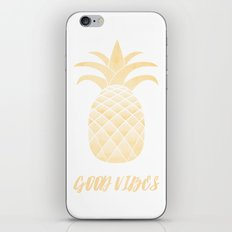 Good Vibes: Gold Pineapple iPhone Skin