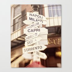 Lead me to Italy Canvas Print
