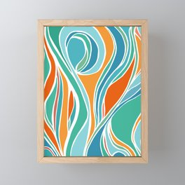 Campfire Abstract Framed Mini Art Print
