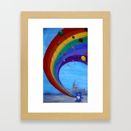 Happy Day or the Day congress committs mass-suicide Framed Art Print