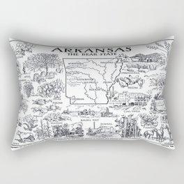 Vintage Map of Arkansas (1912) Rectangular Pillow