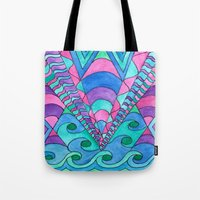 gatsby Tote Bags featuring Gatsby Inspired by Rosie Brown