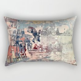 Mirage [1]: a vibrant abstract piece in pinks blues and gold by Alyssa Hamilton Art Rectangular Pillow