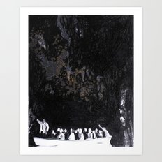 Cave Drawing II Art Print