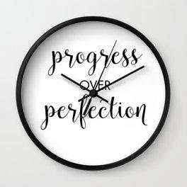 Progress Over Perfection Wall Clock