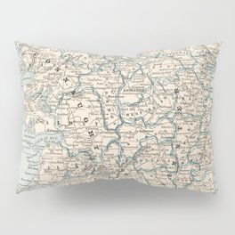 Vintage Map of Ireland (1893) Pillow Sham