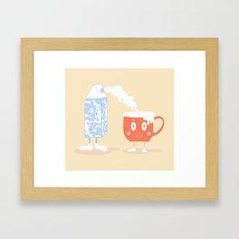 Milky Couple Framed Art Print