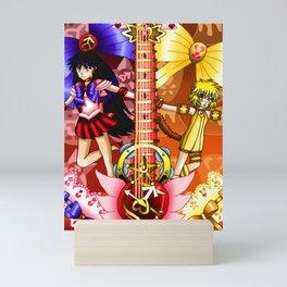 Sailor Mew Guitar #32 - Sailor Mars & Mew Pudding Mini Art Print