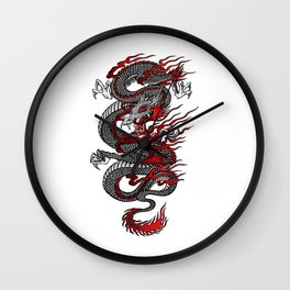 Asian Dragon Wall Clock