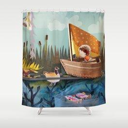 Pond Adventure Shower Curtain