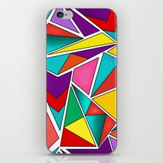 A colorful, abstract pattern polygons . iPhone & iPod Skin