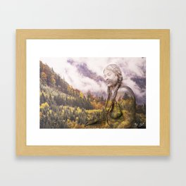 Pine Eagle Mama Framed Art Print