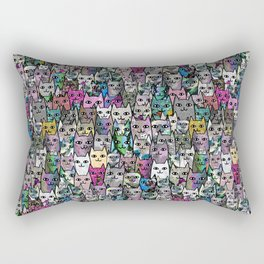 Gemstone Cats CYMK Rectangular Pillow