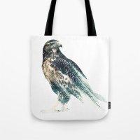 falcon Tote Bags featuring Falcon by RIZA PEKER