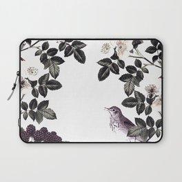 Blackberry Spring Garden - Birds Bees and Flowers Laptop Sleeve