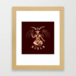 Weeping Baphomet Framed Art Print