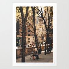 Watching 5th Avenue Art Print
