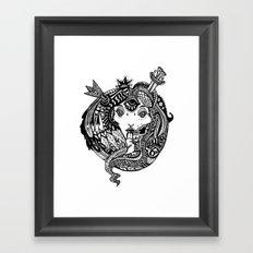 Snakes and Arrows Framed Art Print
