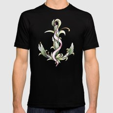 Anchor (color) Black Mens Fitted Tee MEDIUM
