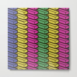 colorful abstract cube pattern Metal Print