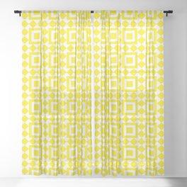 Moroccan Tiles Yellow Sheer Curtain