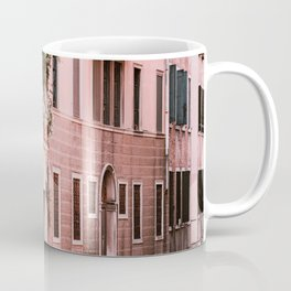 Venice pink canal with old buildings travel photography Coffee Mug