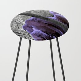 Purple guests Counter Stool