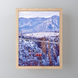 Royal Gorge hanging bridge Framed Mini Art Print