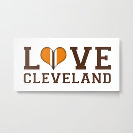 LUV Cleveland Metal Print