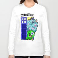 monsters inc Long Sleeve T-shirts featuring Monsters in Time and Space! Doctor Who Meets Monsters Inc. University by beetoons