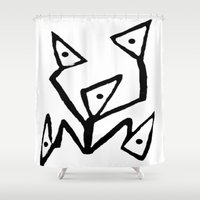 android Shower Curtains featuring PARANOID ANDROID by Ian Meth