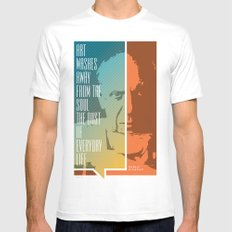 Picasso – Genius Quotes MEDIUM White Mens Fitted Tee