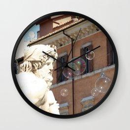 Bernini's Four Rivers Fountain Wall Clock