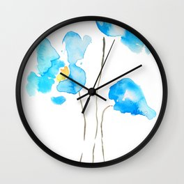 abstract Himalayan poppy flower watercolor Wall Clock