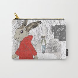 A Wolf met her Carry-All Pouch