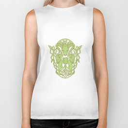 Bighorn Sheep Lion Tree Coat of Arms Celtic Knot Biker Tank