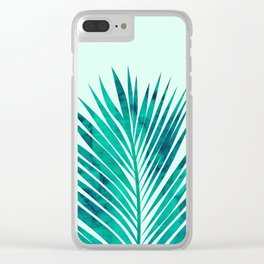 Composition tropical leaves XV Clear iPhone Case
