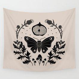 Moth, Mugwort & Mushrooms Wall Tapestry