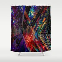 vertigo Shower Curtains featuring Beautiful Vertigo by Robin Curtiss