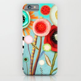 The days blur into one moment iPhone Case