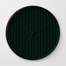 Lush Meadow and Black Stripes Wall Clock