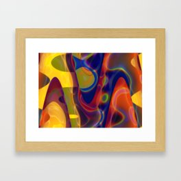 Pastel Colours Design Framed Art Print