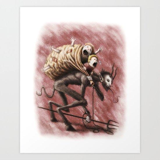 Krampus Art Print