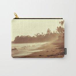 Vintage Retro Sepia Toned Coastal Beach Print Carry-All Pouch