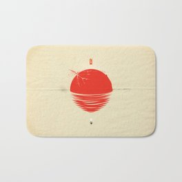 """Japan relief poster/all proceeds will go to """"Peace Winds"""" Bath Mat"""