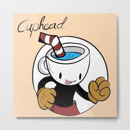 CupHead Metal Print