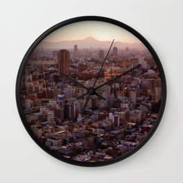 The View of Mt Fuji from the Top of Tokyo Tower Wall Clock